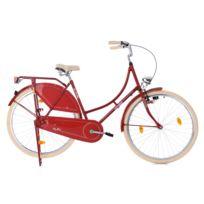 "KS CYCLING - Vélo hollandais dame 28"" Tussaud Singlespeed rouge TC 53 cm"
