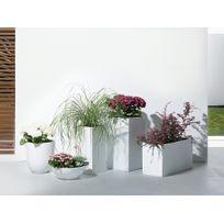 Beliani - Cache-pot de fleurs - blanc - accessoire de jardin - 38x38x70 cm - Wener