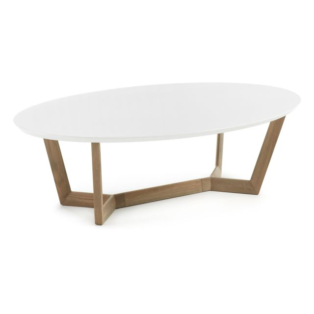 Kavehome Table basse Wave, chene et blanc