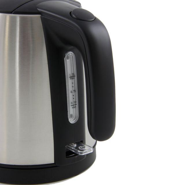 MELITTA BOUILLOIRE PRIME MINI AQUA NOIR/INOX Bouilloire moderne avec une capacité de 1 L, Pour la préparation de boissons chaudes comme le thé, café ou l'aide à la préparation culinaire et les soupes.