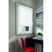 Madeco - Store de fenêtre enrouleur Easy Jour/Nuit Basic l.62 x H.160cm Blanc