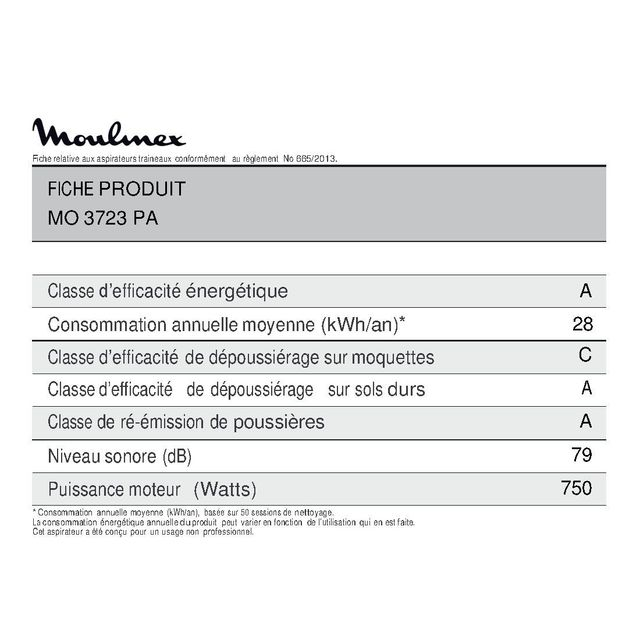 MOULINEX Aspirateur sans sac Power Cyclonic MO3723PA