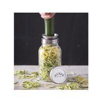 Kilner - Bocal en verre 1L avec accessoire à râpe Spiralizer
