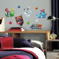 Mon Beau Tapis - Stickers Nintendo Super Mario Galaxy 2 Roommates Repositionnables 32 stickers