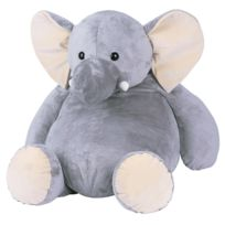 Histoire D'OURS - Peluche Elephant : Grand modèle 38 cm