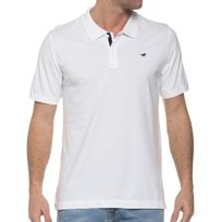 Mustang - Polo Blanc Homme Logo Brodé