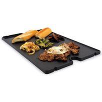 Broil King - Plancha en fonte émaillée 30.5x50 réversible pour barbecue