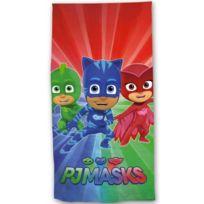 Disney Junior - Pyjamasque - Serviette de Bain - Drap de Plage Coton