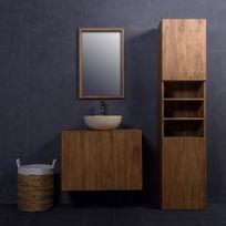 meuble salle de bain teck complet