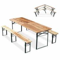 Table De Bancs Brasserie En Pliante Bois 34q5RjLcA