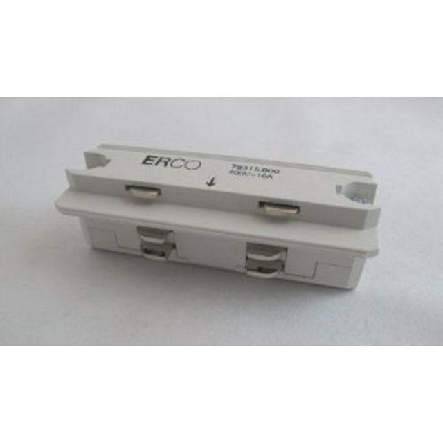 Erco 10.79315.000 - Raccord Droit Rail luminaire Blanc