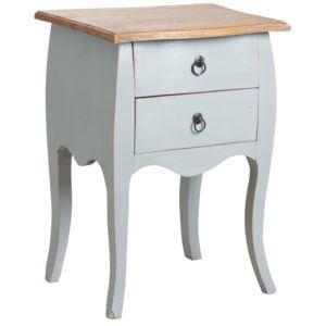 aubry gaspard table de nuit en acajou gris pas cher achat vente chevet rueducommerce. Black Bedroom Furniture Sets. Home Design Ideas