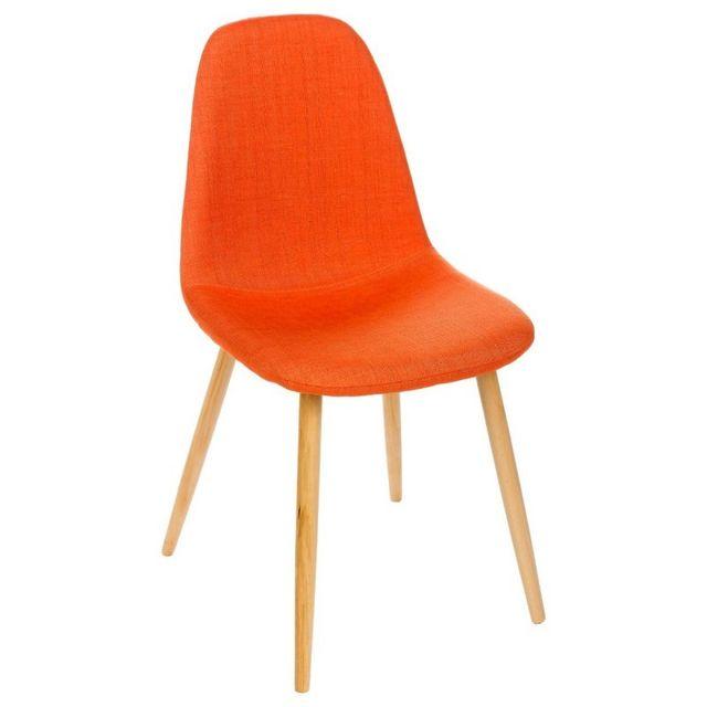 soldes paris prix chaise design nokas orange pas cher achat vente chaises rueducommerce. Black Bedroom Furniture Sets. Home Design Ideas