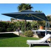 Abritez-vous Chez Nous - Parasol aluminum carré 3x3m Decor D Honfleur Bleu Marine