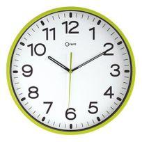 Orium - Horloge silencieuse à quartz D 30 cm vert anis