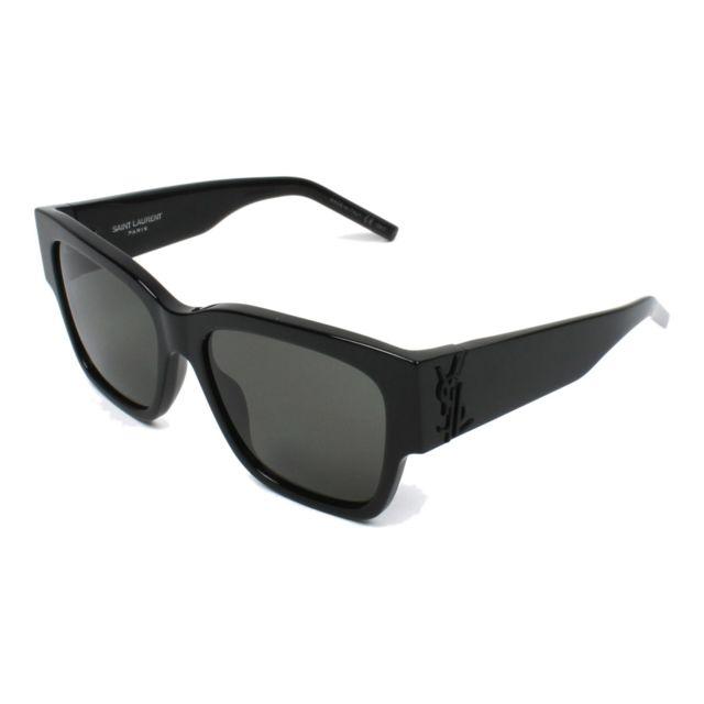 93ac4923cde51c Yves Saint Laurent - Lunettes de soleil Slm-21 001 Mixte Noir - pas cher  Achat   Vente Lunettes Tendance - RueDuCommerce
