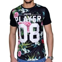 Sohype - So Hype - Tshirt Manches Courtes - Homme - Player Vert - Noir