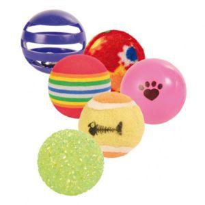 Trixie - Set de balles de jeu pour chats - Lot de 6 N/A