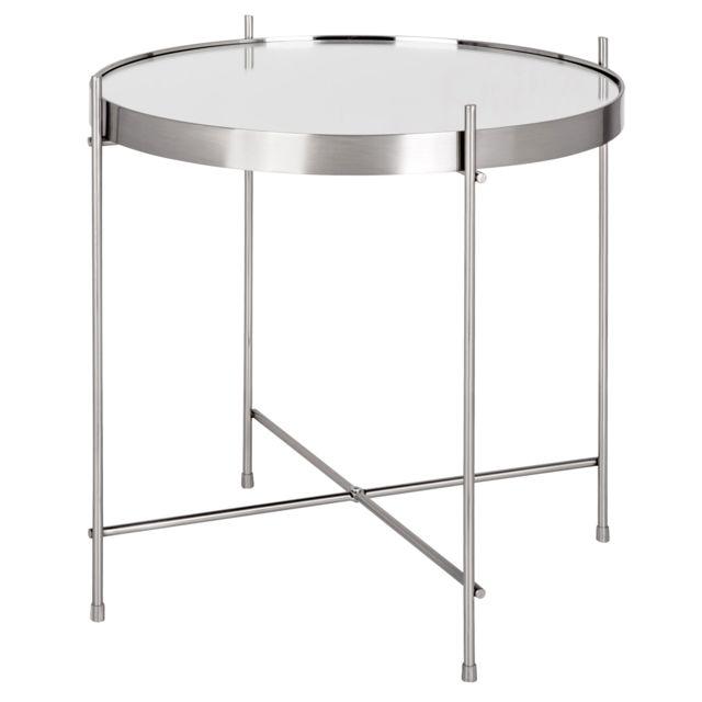 Rendez Vous Deco Table Basse Ronde Valdo Argent S Pas Cher Achat
