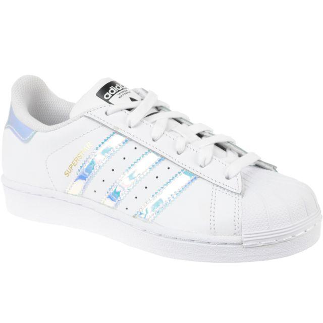 official photos e2cbf 0954d Adidas - Superstar J Aq6278 Blanc - pas cher Achat   Vente Baskets enfant -  RueDuCommerce