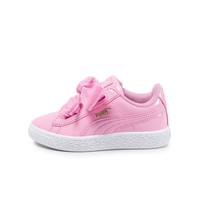 puma heart enfant rose