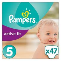 PAMPERS - Active Fit - Couches Taille 5 Junior, 11-23kg - 47 couches