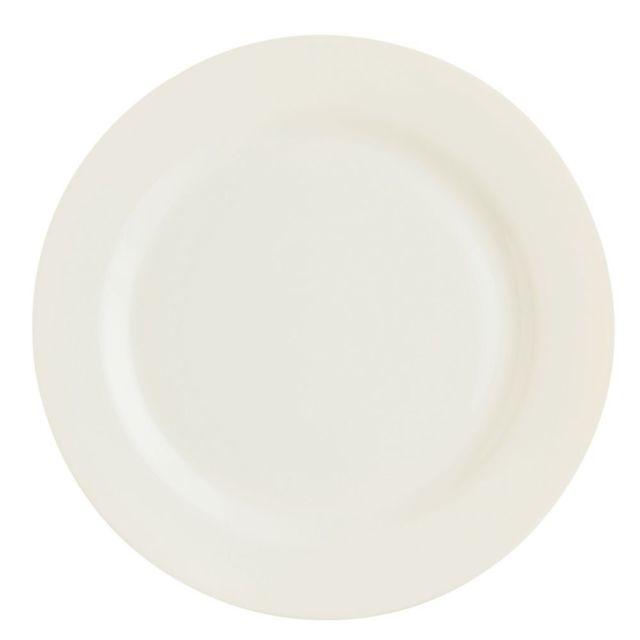 Arcoroc Assiette plate ronde 25,5cm blanc-crème en zenix - Lot de 6 - Intensity