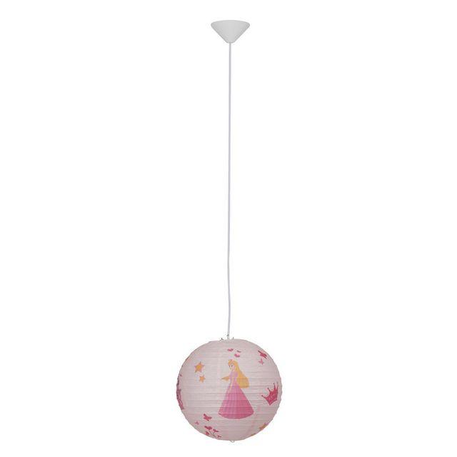 Brilliant Suspension boule japonaise en papier diamètre 30cm Princess - Sans câble