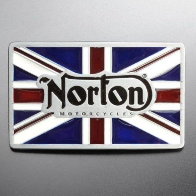 Universel - Boucle de ceinture norton coloré drapeau anglais moto biker 39441a2e95b
