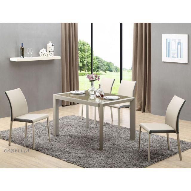 Carellia Table à manger extensible 122÷182 cm x 82 cm x 76 cm