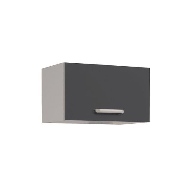 Meuble haut L60xH35xP36cm - gris brillant
