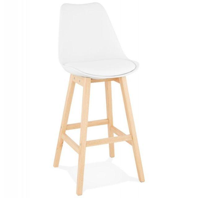 paris prix tabouret de bar scandinave elise 112cm blanc pas cher achat vente bars. Black Bedroom Furniture Sets. Home Design Ideas