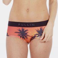 Pull-in - Pull In Shorty Femme Microfibre Gone Orange Noir