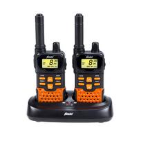 Alecto - Jeu de talkies-walkies jumeaux Fr-70 noir et orange