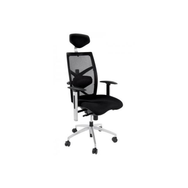 Kokoon Design Chaise de bureau noir Michel