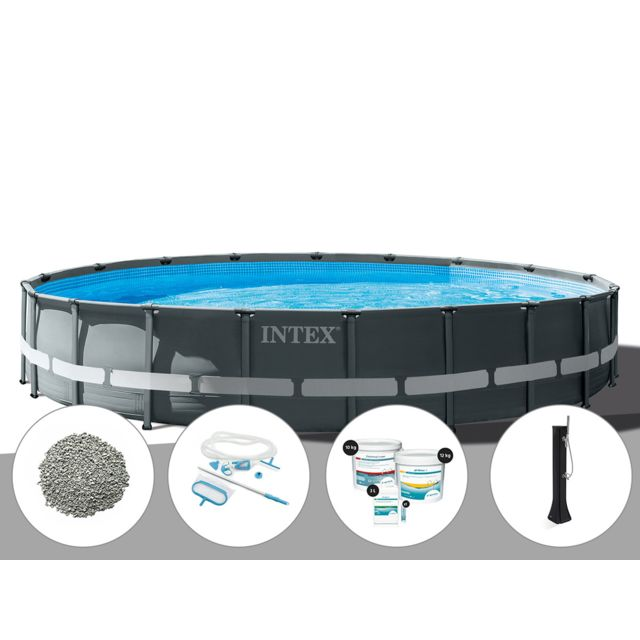 Intex Kit Piscine Tubulaire Ultra Xtr Frame Ronde 6 10 X 1 22 M