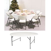 Table toolland achat table toolland pas cher rue du for Grande table ronde 10 personnes