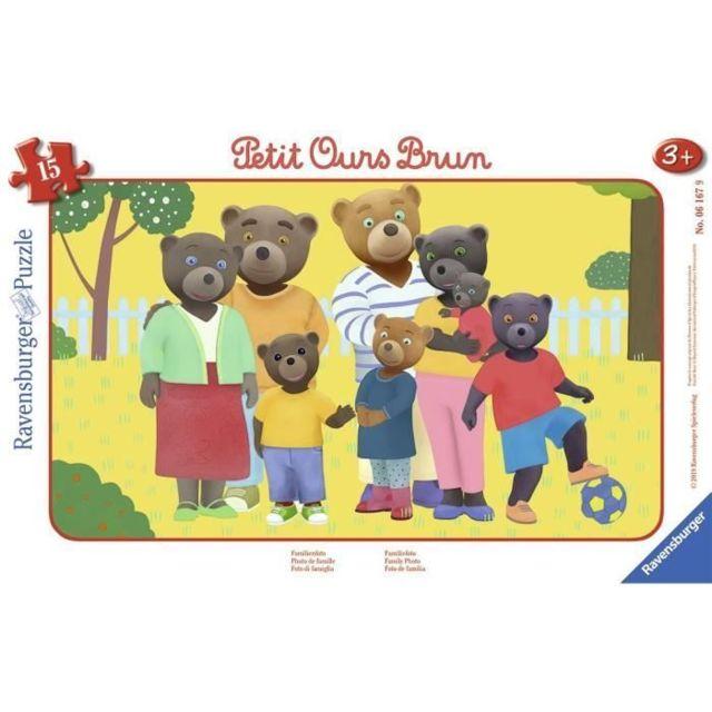 PUZZLE Puzzle cadre 15 p - Photo de famille / Petit Ours Brun