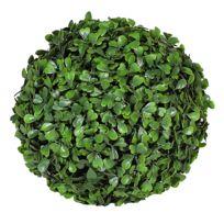Jardin Artificiel - Boule de buis artificielle 20 cm - Vert foncé