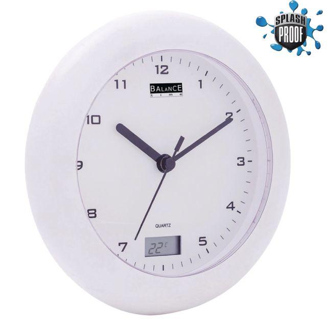 Balance - Horloge Thermomètre pour Salle de bains 17 cm ...