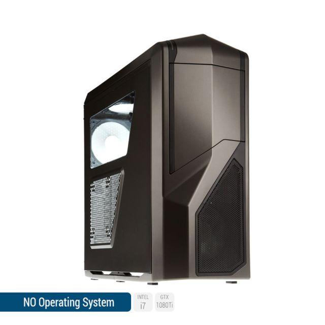 SEDATECH PC Gamer, Intel i7, GTX1080Ti, 250Go SSD, 2To HDD, 16 Go RAM, sans OS. Ref: UCM6167I1