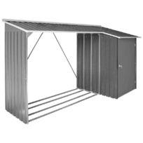 Duramax - Abri bûche et remise anthracite métal Woodstore + Store 2,82 m2 - Duwstt62PR