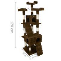 Griffoir Arbre à chat 170 cm - Modèle Caprice