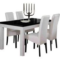 Table Salle A Manger Roma Blanc Et Noir 160cm