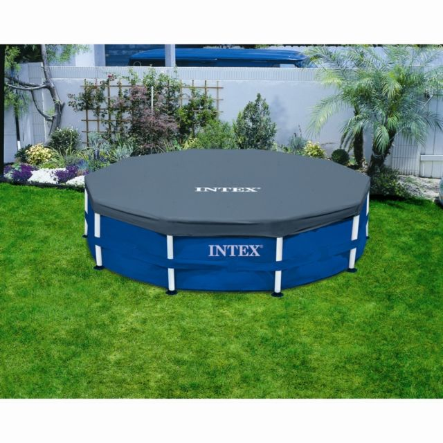 Intex b che de protection 4m27 pour piscine ronde pas - Bache hivernage piscine intex ...