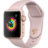 APPLE - Watch 3 38 - Alu or / Bracelet Sport rose des sables