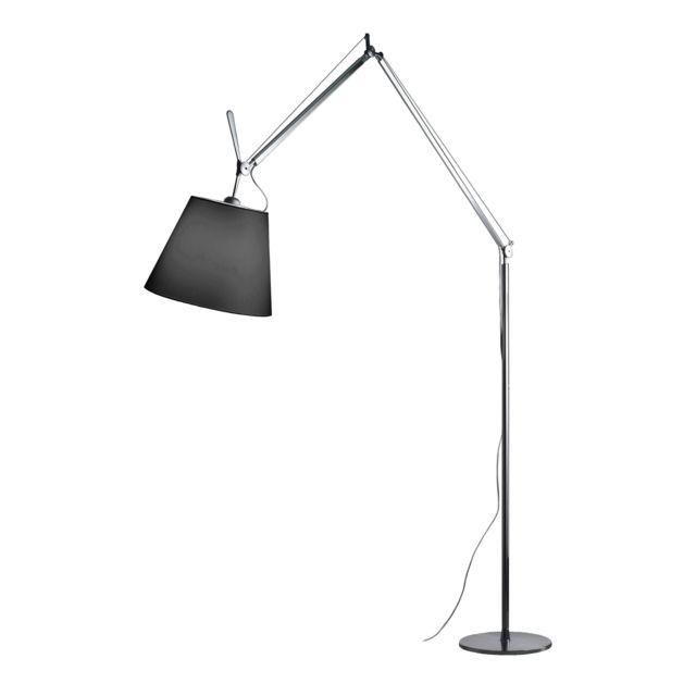 Lampadaire Tolomeo Mega Terra Led - noir - Aluminium - Ø 32