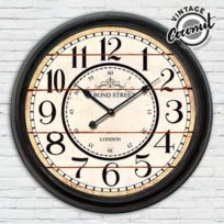 Marque Generique - Horloge Murale Hall de Gare Londres Vintage en bois - Décoration murale