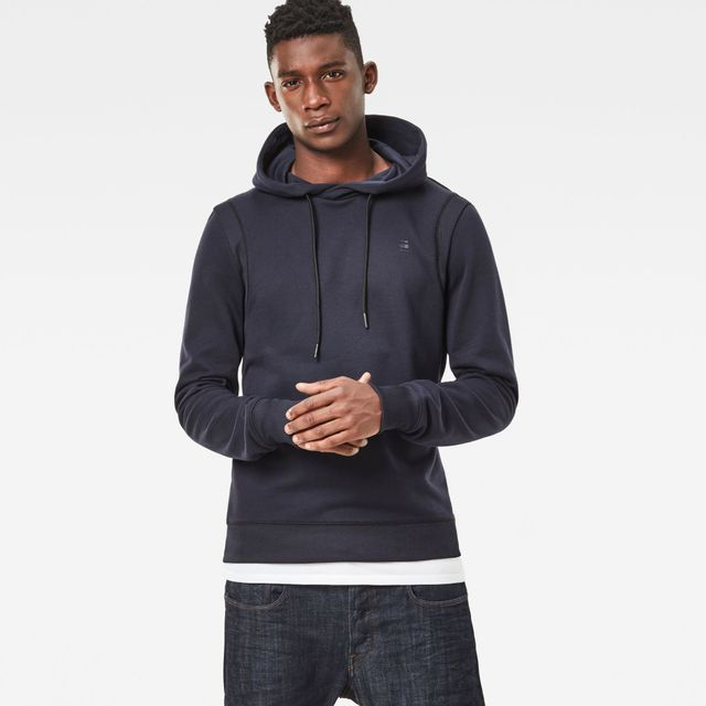 a91837ac9abd5 G-STAR RAW - Sweat MOTAC HOODED DARK NAVAL BLUE Bleu - pas cher ...