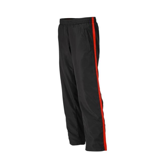 c5fa9297e65 James   Nicholson - pantalon running jogging Jn489 - noir - tomate - femme  - course
